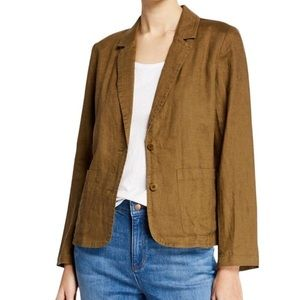 Eileen Fisher Organic Linen Shaped Blazer Jacket